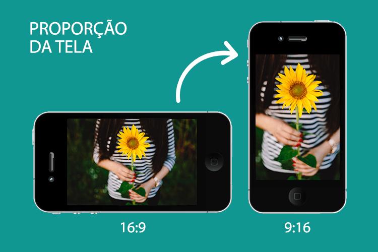Vídeo Vertical - Proporção da Tela