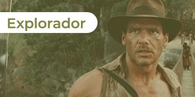 As aventuras de Indiana Jones como o explorador
