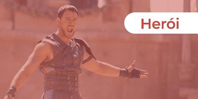 A superação e conquista de Maximus como o heróis em Gladiador