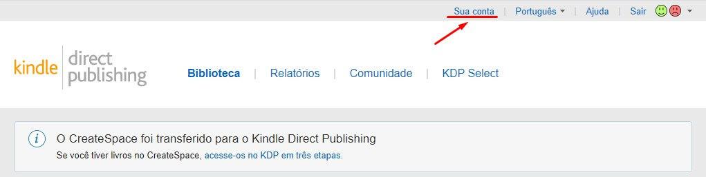 acessar sua conta de autor no KDP
