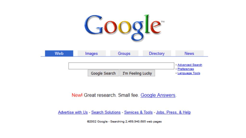 Google Antes