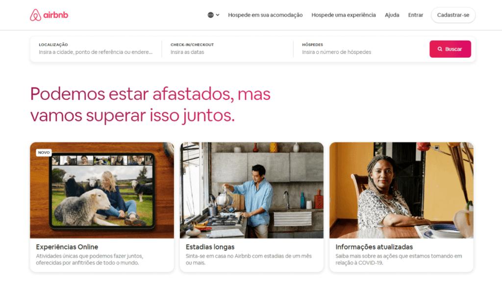 Experiência Online do Airbnb